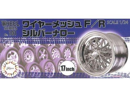 Disky FUJIMI FU19353 - Wire Mesh F/R Silver Narrow 17-inch (1:24)