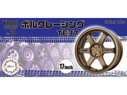 Disky FUJIMI FU19363 - 17 inch Volk Racing TE37 (1:24)