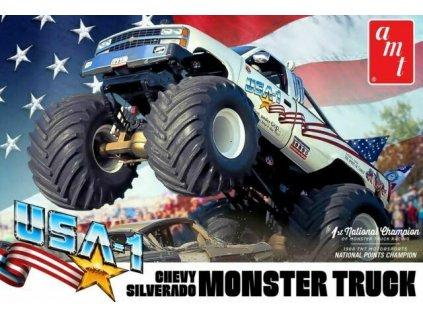 Plastový model auto AMT 1252 - USA 1 Chevy Silverado Monster Truck (1:25)