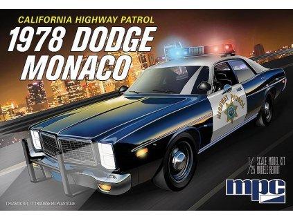 Plastový model auto MPC 0922 - California Highway Patrol 1978 Dodge Monaco (1:25)