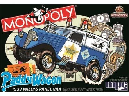 Plastový model auto MPC 0924 - Monopoly Paddy Wagon 1933 Willys Panel Van (1:25)