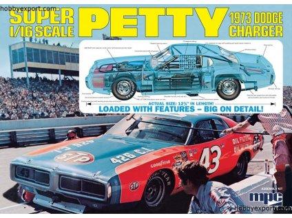 Plastový model auto MPC 0938 - Petty 1973 Dodge Charger (1:16)