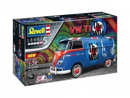 """Darčekový set auto REVELL 05672 - VW T1 """"The Who"""" (1:24)"""