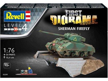Darčekový set tank REVELL 03299 - Sherman Firefly (1:76)