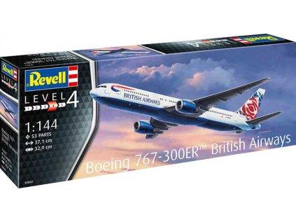 Plastový model lietadlo REVELL 03862 - Boeing 767-300ER (British Airways Chelsea Rose) (1:144)