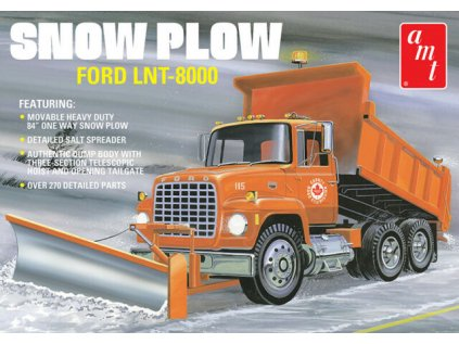Plastový model kamion AMT 1178 - Snow Plow Ford LNT-8000 (1:25)