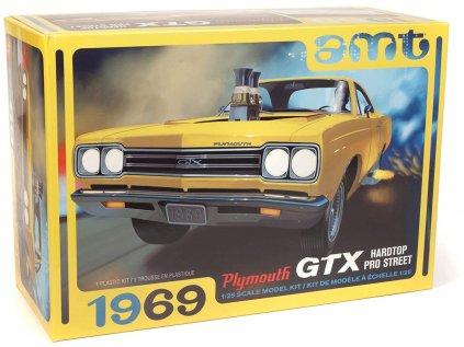 Plastový model auto AMT 1180 - 1969 Plymouth GTX Hardtop Pro Street (1:25)
