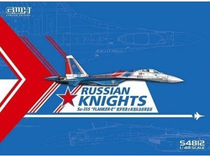 Plastový model lietadlo GWH S4812 - Su-35S Russian Knights Flanker-E 1/48