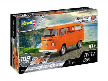 Plastový model auto REVELL 07667 - VW T2 Bus (1:24)