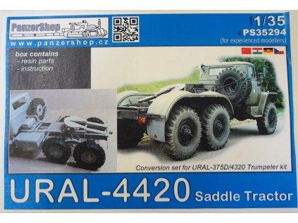 Resinový transkit PANZER SHOP PS35294 - URAL-4420 Saddle Tractor (Trumpeter) (1:35)
