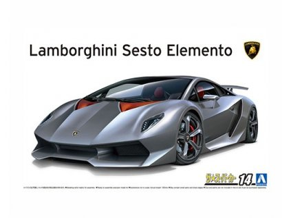 Model Kit auto Aoshima AO06221 - 10 Lamborghini Sesto Elemento (1:24)