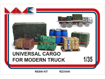 Resinový model doplnok MMK RZ35040 - UNIVERSAL CARGO FOR MODERN CARS (1:35)