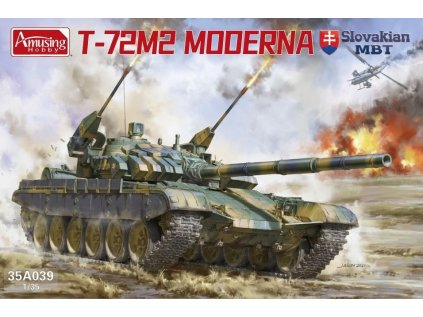 "Plastový model tank AMUSING HOBBY 35A039 - T-72M2 ""Moderna"" Slovakian MBT (1:35)"