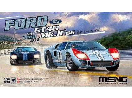 Model Kit auto MENG CS004 - Ford GT40 Mk.II 1966 Le Mans 24h (1:24)