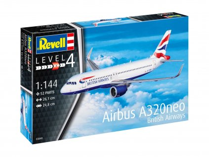 Plastový model lietadlo REVELL 03840 - Airbus A320 neo British Airways (1:144)