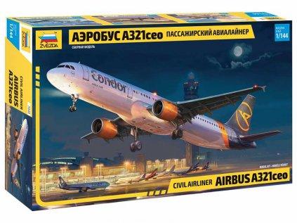 Model Kit letadlo ZVEZDA 7040 - Airbus A321 CEO (1:144)