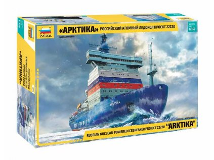 "Model Kit loď ZVEZDA 9044 - ""Arktika"" Russian Nuclear Icebreaker (1:350)"