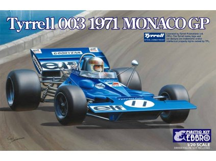 Model Kit formula EBBRO EBR20007 - Tyrrell 003 1971 Monaco GP (1:20)