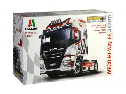 1601 model kit truck 3934 iveco hi way e5 abarth 1 24