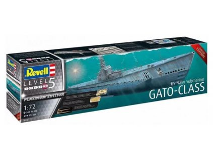 5117 plastovy model ponorka revell 05168 us navy submarine gato class 1 72