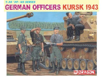 5555 model kit figurky dragon 6456 german officers kursk 1943 1 35