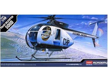 5984 model kit vrtulnik academy 12249 hughes 500d police helicopter 1 48