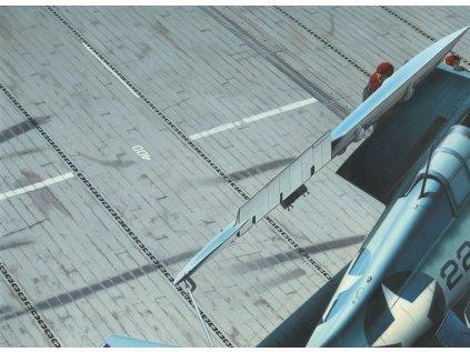 6734 plastova podlozka diorama eduard 8802 paluba letadlove lodi us navy 1 48