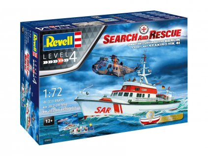 7523 darcekovy set lod revell 05683 dgzrs arkona westland sea king mk 41 1 72