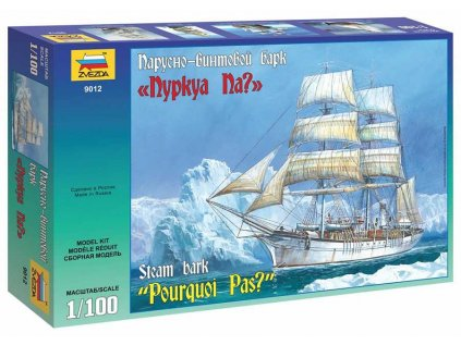 7760 model kit lod zvezda 9012 steam bark pourquoi pas 1 100