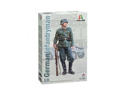 7907 model kit figurka italeri 7407 german infantryman 1 9