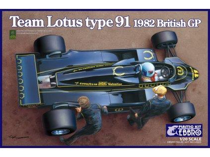8528 model kit formula ebbro ebr20012 team lotus type 91 1 20