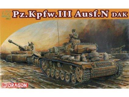 8693 model kit tank dragon 7386 pz kpfw iii ausf n dak 1 72