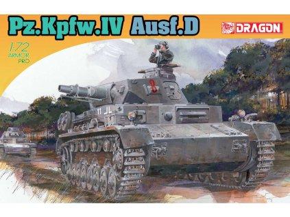 8696 model kit tank dragon 7530 pz kpfw iv ausf d 1 72