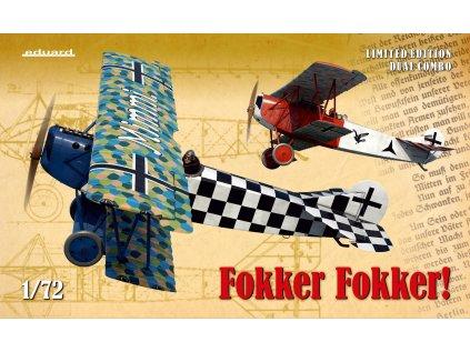 8759 plastovy model lietadlo eduard 2133 fokker fokker 1 72