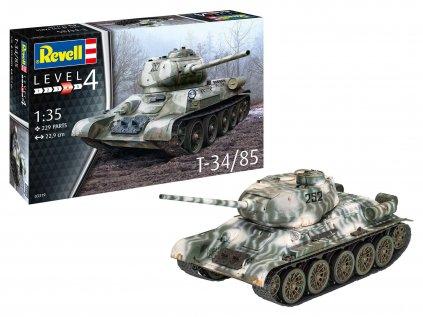 Plastový model tank REVELL 03319 - T34-85 (1:35)