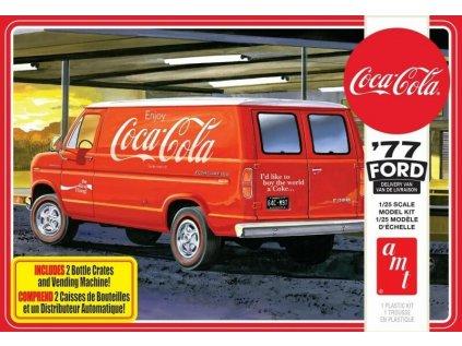 Plastový model auto AMT 1173 - Coca-Cola '77 Ford Delivery Van (1:25)