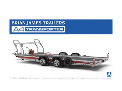 Model Kit vozík Aoshima AO05260 - Brian James Trailers A4 Transporter (1:24)