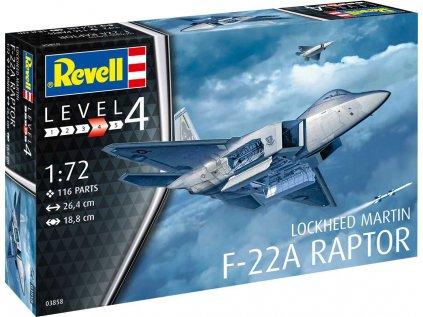 Plastový model lietadlo REVELL 03858 - Lockheed Martin F-22A Raptor (1:72)