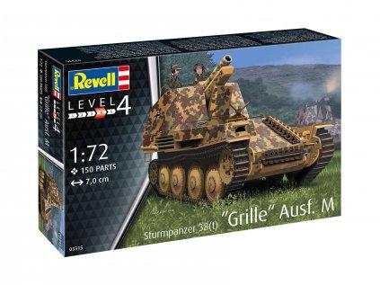Plastový model tank REVELL 03315 - Sturmpanzer 38(t) Grille Ausf. M (1:72)