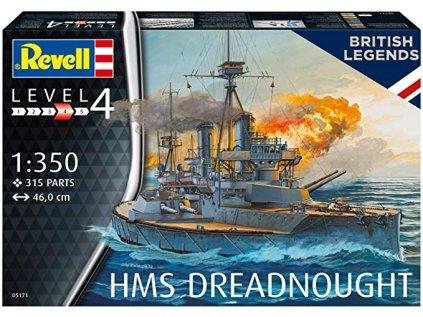 Plastový model loď REVELL 05171 - HMS Dreadnought (1:350)