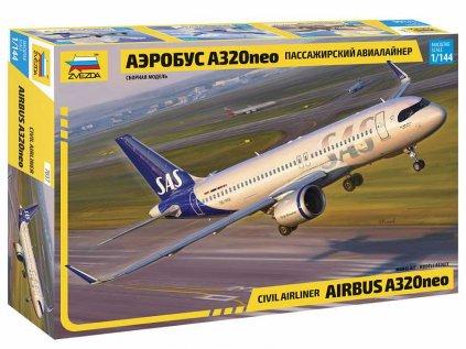 Model Kit letadlo ZVEZDA 7037 - Airbus A320 NEO (1:144)