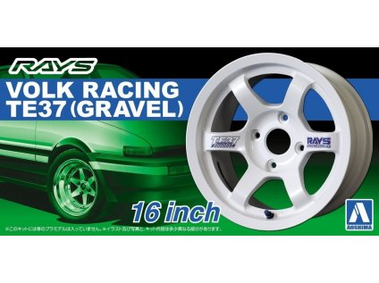 Disky AOSHIMA AO05250 - Volk Racing TE37 (Gravel) 16 inch (1:24)