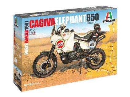 """Model Kit motorka ITALERI 4643 - Cagiva """"Elephant"""" 850 Paris-Dakar 1987 (1:9)"""