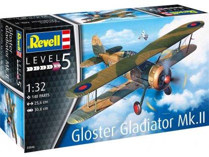 Plastový model lietadlo REVELL 03846 - Gloster Gladiator Mk. II (1:32)