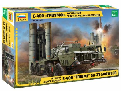 "Model Kit military ZVEZDA 5068 - S-400 ""Triumf"" Missile System (1:72)"
