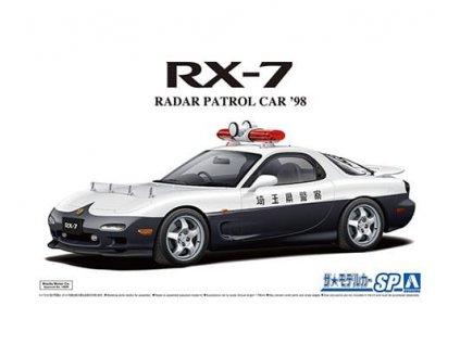 Model Kit auto Aoshima AO05922 - Mazda FD3S RX-7 Radar Patrol Car '98 (1:24)