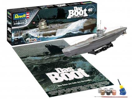 Darčekový set ponorka REVELL 05675 - Movie Set DAS BOOT - 40th Anniversary (1:144)