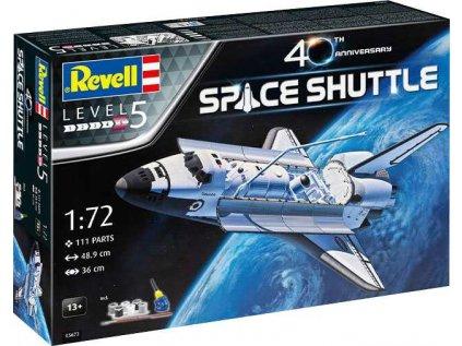 Darčekový set vesmír REVELL 05673 - Space Shuttle - 40th Anniversary (1:72)