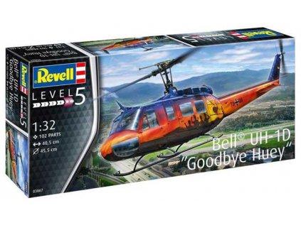 """Plastový model vrtulník REVELL 03867 - Bell UH-1D """"Goodbye Huey"""" (1:32)"""