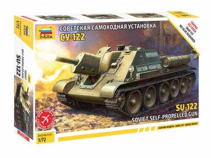 Model Kit tank ZVEZDA 5043 - SU-122 Soviet Tank Destroyer (1:72)